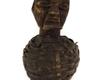 Teke Reliquary Figure with Basketry Congo Gabon African Art 119980