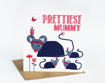 Mummy card mothers day card mummy birthday card for mummy card for mother card for mum thank you mum mothering sunday cards (SS24)
