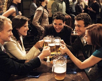 """How i met your mother TV Show Fabric poster 36"""" x 24"""""""