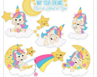 DIGITAL SCRAPBOOKING CLIPART - Sparkles Sweet Dreams - Exclusive