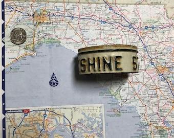 Sunshine State Vintage Recycled License Plate Bracelet