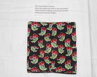 Cherry Microwave Bowl Protector