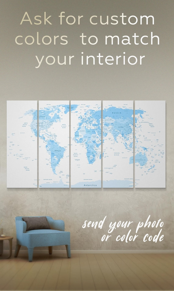 Large blue highly detailed world map with countries and large blue highly detailed world map with countries and cities blue push pin world map canvas print push pin world travel map with cities gumiabroncs Choice Image
