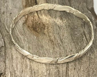 Vintage Mexico Sterling Silver 925 Stacking Bangle