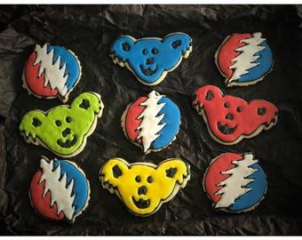Greatful dead sugar cookies