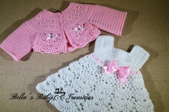 Baby Dress With Cardigan