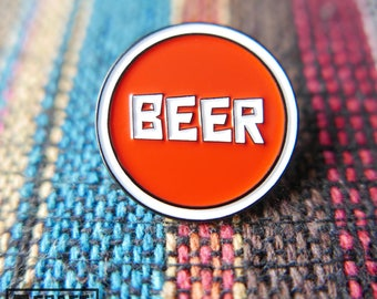 Beer Pin, Enamel, Lapel, Craft Beer - Beer Pin