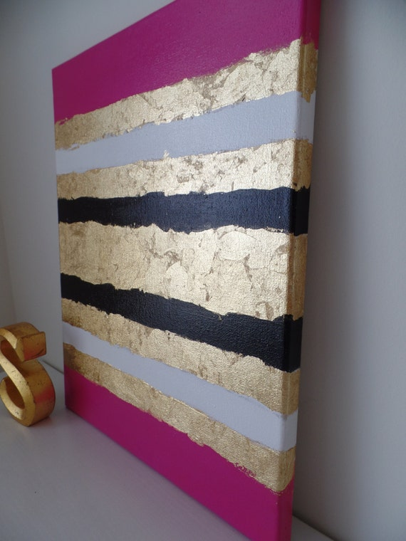 Kate Spade Inspired Acrylic Painting Canvas Pink