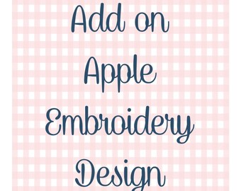 Add On Apple Embroidery Design