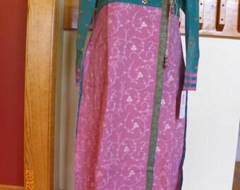 3 pc Indian cotton dress pants shawl