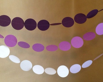 10' Long Purple Ombre Paper Garland Perfect to Use for Any Party, Birthday Party, Wedding Shower, Baby Shower or Use for Home Decor