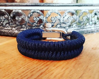 Paracord armband royal blue