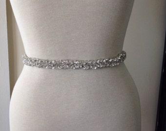 All around beading Bridal belt wedding belt bridal sash wedding sash crystal sash wedding dress jeweled belt rhinestone sash rhinestone belt
