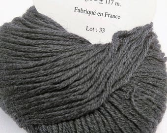 10 balls /gris/ pure cashmere made in FRANCE