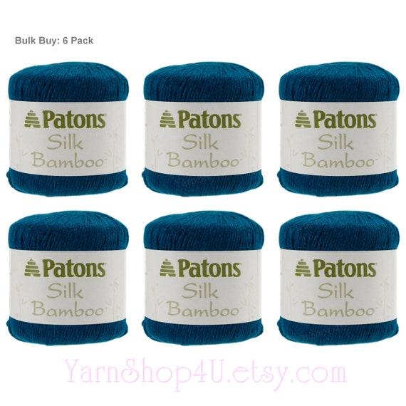 Bulk Buy! 6 Pack Of Sapphire Silk Bamboo. Patons Silk Bamboo Is A Dk Lightweight Yarn. Rich Deep Blue Teal Bamboo / Silk Blend. 2017 07 007≪ by Etsy