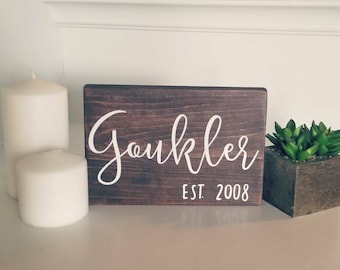 6x8 Handpainted Name Sign