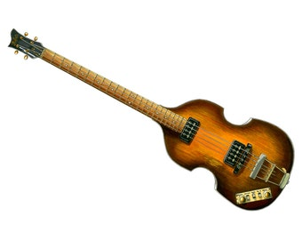 Paul McCartney's 1963 Hofner 500/1 Beatle Bass without pickguard CANVAS PRINT