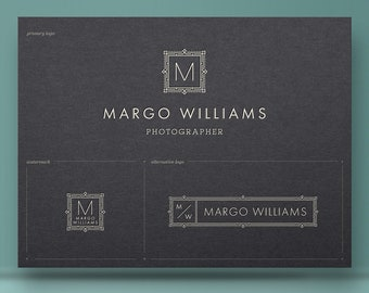 Initial Logo, Photography Logo Design, Premade Logo, Branding Kit, Camera Logo, Photo Logo, Watermark, Instagram Logo, Blog Logo