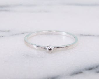 Simple Silver Stacking Ring, Delicate Silver Ring, Sterling Silver Stacking Ring, Dainty Silver Rings