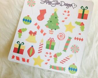 Christmas Decor Stickers | Erin Condren & Plum Paper Planner