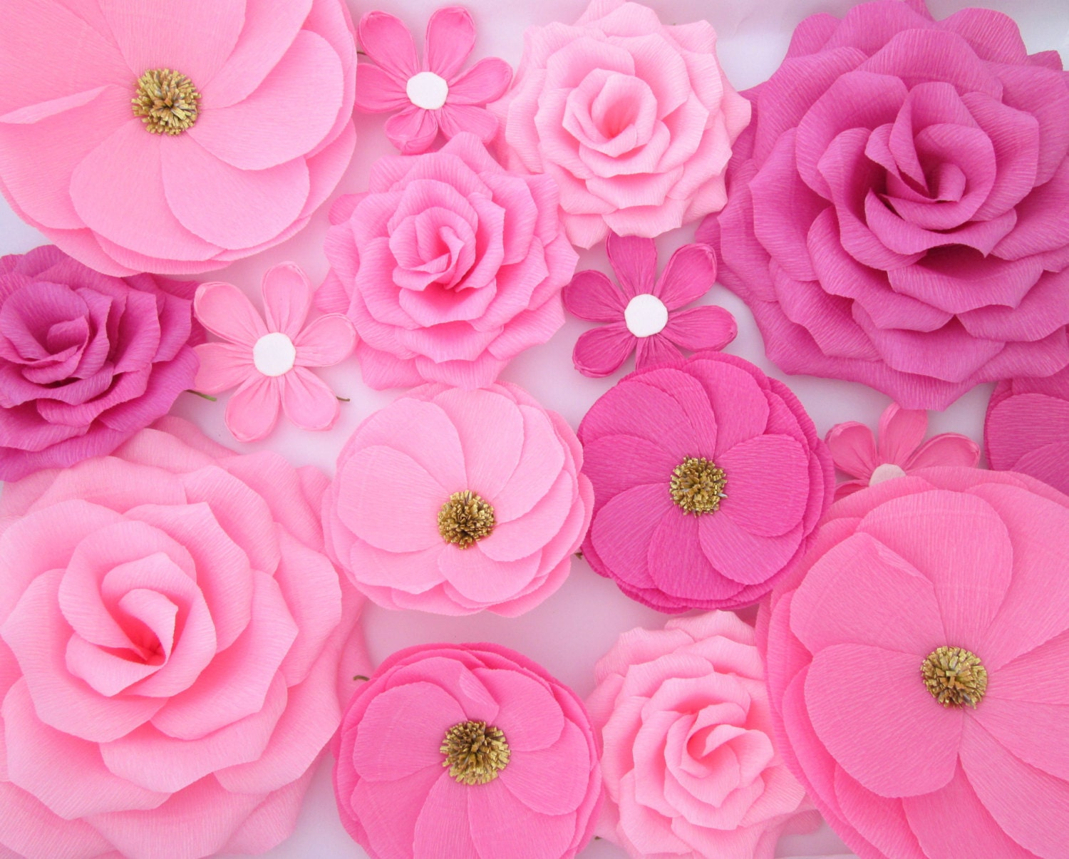 16 paper flowers wall flowers arch flowers wedding zoom mightylinksfo