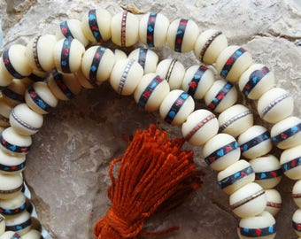 Yak bone mala Rosary Nepal prayer bead