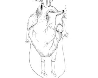 Illustration print - Heart skipped a beat