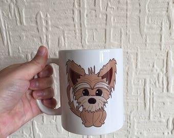 Personalised mug, digital caricatures