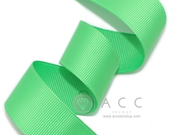 5Yards Pale Green Solid Grosgrain Ribbon - 5mm(2/8''), 10mm(3/8''), 15mm(5/8''), 25mm(1''), and 40mm(1 1/2'')