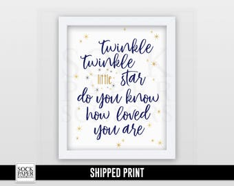 Twinkle Twinkle Nursery Print -  Nursery Wall Art - Twinkle Twinkle Little Star Do You Know How Loved You Are - Nursery Decor -  Sku-RNA108
