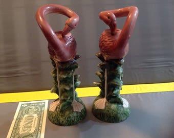 Flamingo candlestick holder