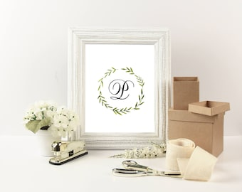 Monogram Downloads – Monogram Prints – Wedding Table – Download Print – Download Wedding Prints – 1 Script Font – 1 Block Font