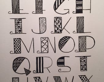 Monochrome Alphabet Soup