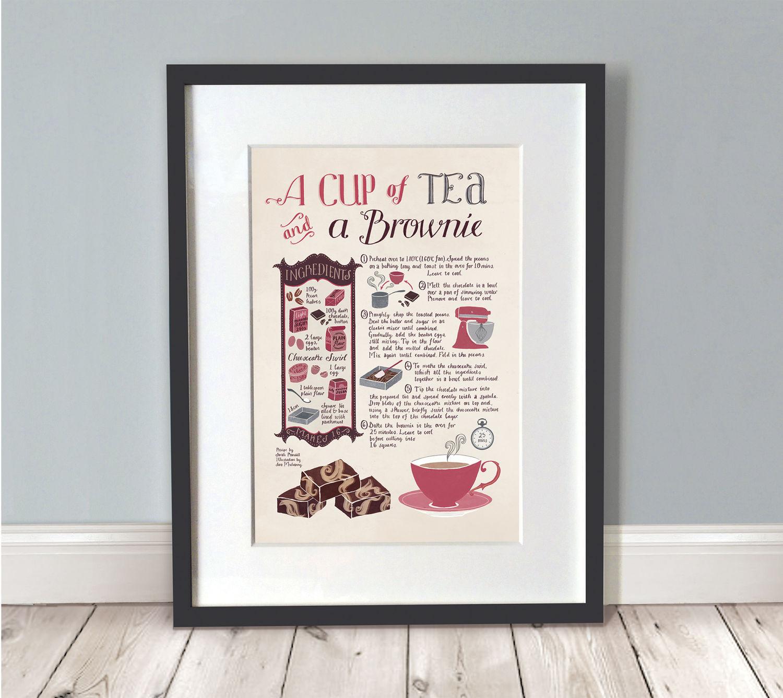Tee-Print / Küche Wandkunst / Küche drucken / Küche Poster /