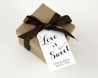 Love is Sweet Tag - Dessert Wedding Favor - Cupcake Favor Tags - Sweet Favor Tags - Party Favor - Wedding Favor Tags