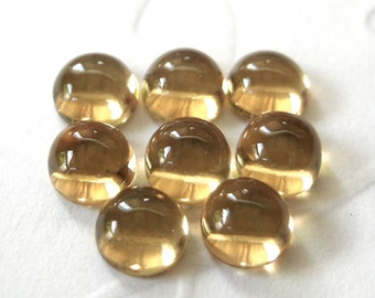 Gemstone Cabochon Honey Quartz 5mm Round FOR TWO