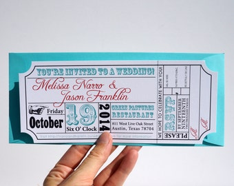 Movie Ticket Wedding Invitation