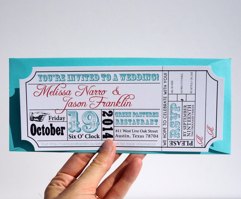 Movie ticket wedding invitation zoom stopboris Image collections