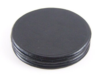 Round Genuine leather coaster