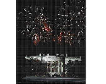 White House Fireworks, pattern for loom or peyote