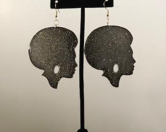 Galaxy Goddess Dangle Earrings
