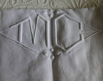 French SHEET Monogram LINEN