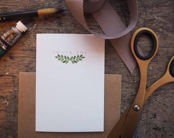 Thank You Cards - Pack of 5 - Leaf Design - A7