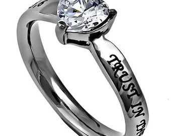 CZ HEART RING Assorted Verses