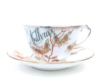 SALE - Imperfect - Arsenic Poison Teacup and Saucer