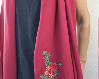 Embroidered Dress Scarf