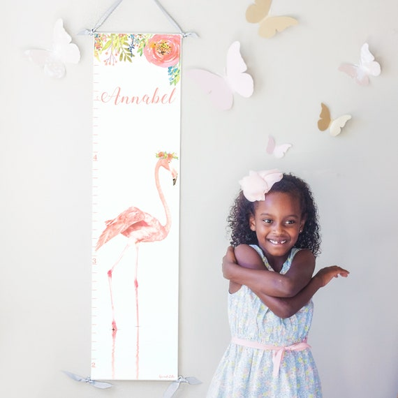 Pink Flamingo canvas growth chart