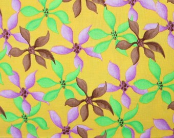 RARE FLORAL FABRIC - Garden Wall - Tina Givens Westminster Fabrics (lavender flowers are mauve) - 1 Yard - F28