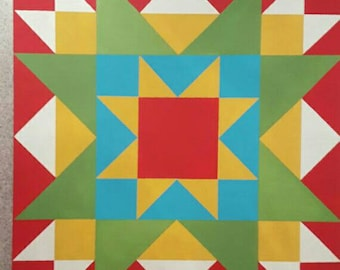 mini barn quilt - rising star