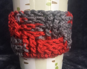 Handmade crocheted coffee/tea coozie